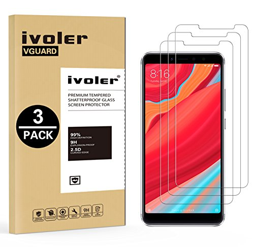 iVoler [3 Unidades] Protector de Pantalla para Xiaomi Redmi S2, Cristal Vidrio Templado Premium