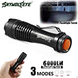 HCFKJ 2000Lm Cree Q5 Aa/14500 3Mode Zoom Led Super Bright Taschenlampe Mini Police Torch