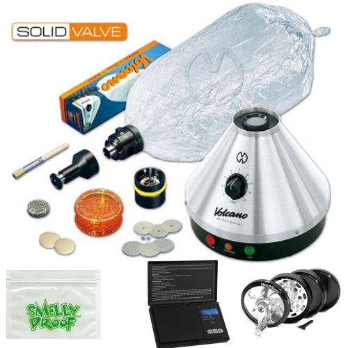 Volcano Vaporizer Premium Volcano Vaporizer Classic w Solid Valve Kit, Scale, Mill Grinder, Baggie