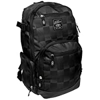 No Fear Check Back Pack Travel Luggage Everyday Casual Bag Accessories Black/Charcoal One Size