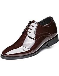 HYLM Hombres Zapatos Casual De Negocios Breathable / Inner Height / Zapatos De Los Hombres Inglaterra Zapatos De Cuero Brillantes De La Boda Lace Banquet Dress Shoes Oxford , brown rise , 43