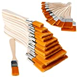 HITSAN KCASA 12Pcs/Set Nylon Oil Painting Watercolor Gouache Paint Barbecue Brush Home Wall Decor Tool One Piece