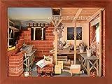 3D Holzbild Maurer, lasiert - Geschenk für Maurer / Bauleiter / Hausbauer / Bauhandwerker
