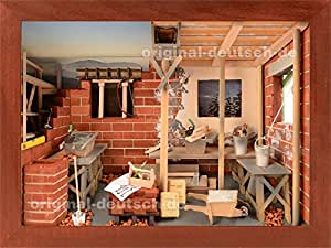 3d holzbild maurer lasiert geschenk f r. Black Bedroom Furniture Sets. Home Design Ideas