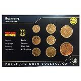 IMPACTO COLECCIONABLES Monedas Pre-Euro de Alemania bañadas en Oro de 24 Quilates - 8 Monedas Originales 1949/2001