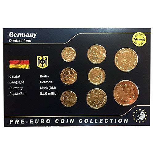 af23be64f8 IMPACTO COLECCIONABLES Monete Pre Euro della Germania Bagnate in Oro 24  Carati - 8 Monete Originali