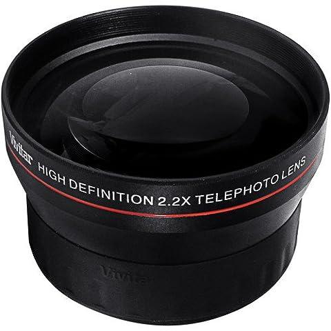52 mm Téléconvertisseur - Multiplicateur 2.2x pour Nikon D3000, D3100, D3200, D3300, D3400, D3500, D5000, D5100, D5200, D5300, D5500, D7000, D7100, D7200, D3, D4, DF, D40, D40x, D50, D60, D70, D70s, D80, D90, D100, D200, D300, D300S, D500, D600, D610, D700, D750, D800, D800E, D810 Appareil photo numérique Reflex (52mm)