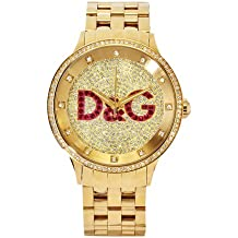 Dolce & Gabbana Time Big IPG Gold DIAL with Red Logo BRC DW0377 - Reloj de