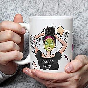 Geschenk Tasse Krasse Mama lustig mit Spruch beste Mama der Welt Muttertagsgeschenk Geburtstagsgeschenk für Frauen Freundin Schwanger Geburt