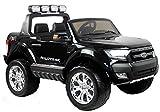 Lean Toys Elektroauto für Kinder Ford Ranger Schwarz 4x45W 2x12V7Ah LCD Panel Eva-Reifen