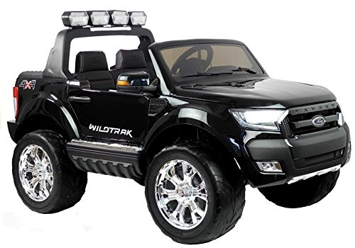 Lean Toys Elektroauto für Kinder Ford Ranger Schwarz 4x45W 2x12V7Ah LCD Panel Eva-Reifen*