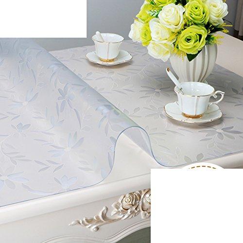 Preisvergleich Produktbild PVC Weiche Glas Tischdecke/Wasserdicht,Anti-hot,Wegwaschen,Transparente Tabellen Couchtisch Pad/Tischplatte Aus Kristallplatte-F 80x140cm(31x55inch)