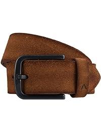 ALBERTO cuir velour ceinture en cuir ceinture hommes marron
