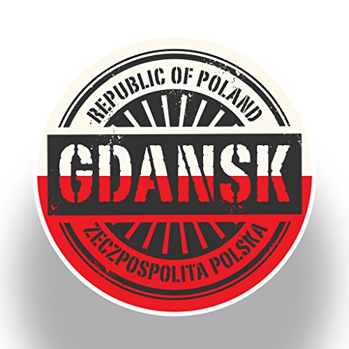 2x Polen Danzig Vinyl Aufkleber Reise Gepäck # 7395-10cm/100mm Wide