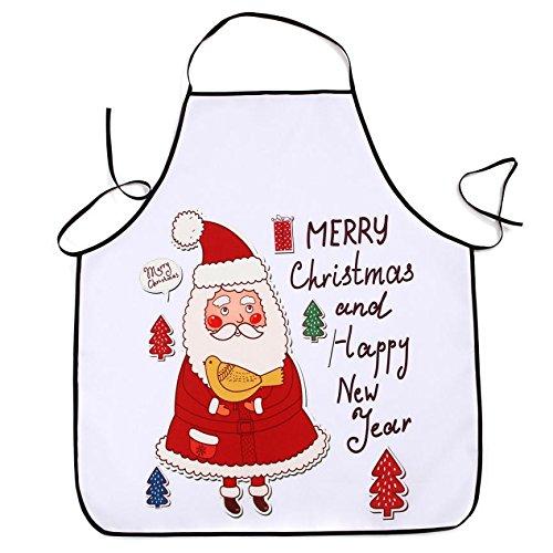 Lqchl 1Pcs 70*80Cm Décoration De Noël Tablier Imperméable En Polyester Pour Le Dîner De Noël Cuisine Tablier Partie Décoration,J