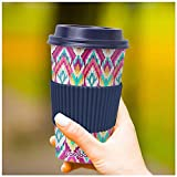 CasaBasics Designer Kaffeebecher to Go aus nachhaltigem Bambus   Kaffee to go Becher ist wiederverwendbar, Vegan, umweltfreundlich, lebensmittelecht und geeignet für die Spülmaschine   450ml / 15oz - 2
