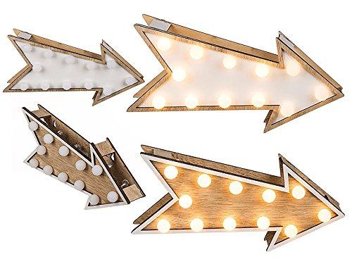 Flecha Decorativa de Madera Oh My Home (12 LED)