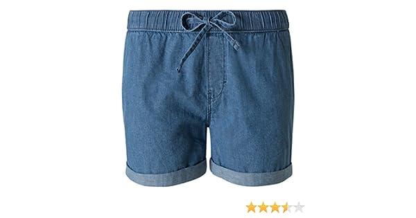 suche nach original heiß-verkaufendes spätestes große Auswahl an Farben und Designs C&A Damen Jeans-Shorts aus Baumwolle mit Tunnelzug jeans - blau