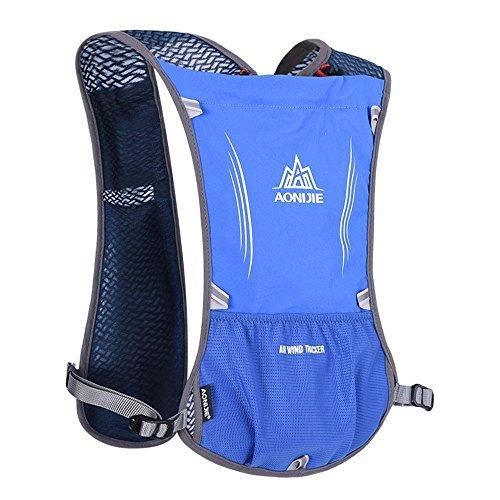 Imagen de aonijie 5l chaleco bolsas   bicicleta  ciclismo uv400deporte senderismo ciclismo senderismo montañismo riding camping viaje unisex resistente al agua bolsa, azul