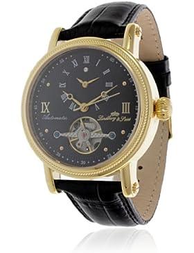 Lindberg & Sons–G13113–Perfecto–Zeigt Herren–Automatische Analog–Zifferblatt schwarz Armband Leder schwarz