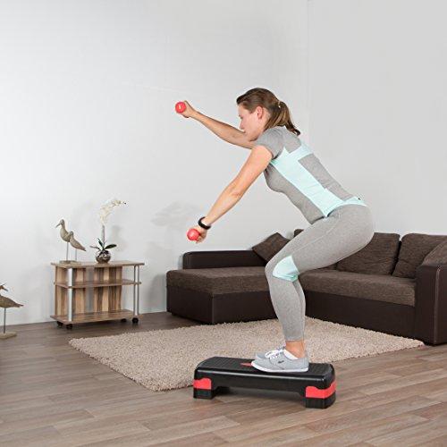 Ultrasport Incl - Conjunto de pesas y step para fitness y aerobic, color negro / naranja 18.73€