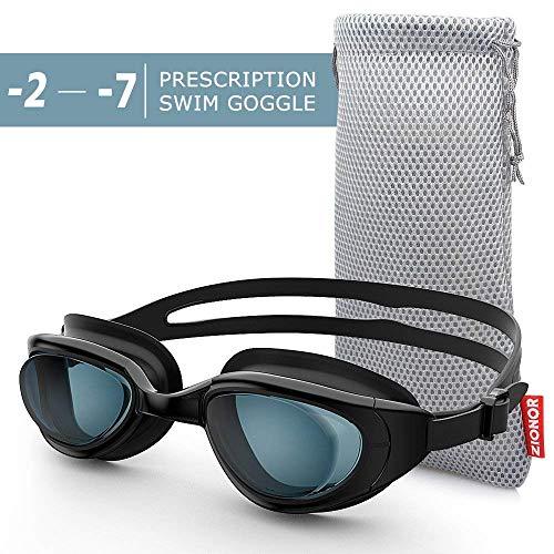 ZIONOR Optische Schwimmbrille, G7 Auslaufsicher & Anti-Beschlag Profi Korrekturglas Schwimmbrillen mit Sehstärke/Dioptrien, 100{28816626b2a3ffb97888a7ce55421de178abe8e4977474ee47a6b36610c35c9a} UV-Schutz für Herren Damen Outdoor-Schwimmer (Dioptrien -2,0 bis -7,0)