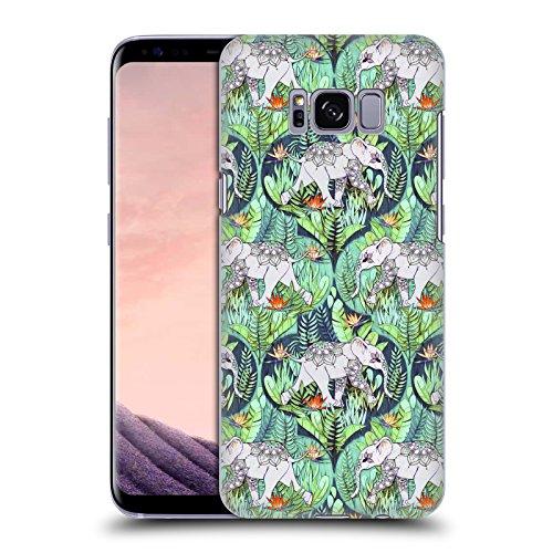 Head Case Designs Offizielle Micklyn Le Feuvre Baby Elefant Und Dschungel-Abenteuer Tiere Ruckseite Hülle für Samsung Galaxy S8