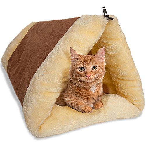 ADOV-2-in-1-Pet-Cat-Bed-Snooze-Tunnel-Tube-Indoor-Cushion-Mat-Pyramid-Pad-for-Cats-Dogs-Kittens-Puppy-Kitty-Kennel-Crate-Cage-Shack-perfect-for-Travel-Home-or-Office