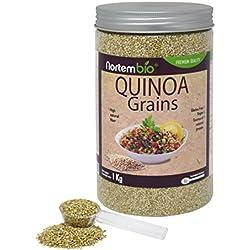 Semillas de Quinoa NortemBio 1 kg, Calidad Premium. 100% natural. Excelente Fuente de Proteínas y Vitaminas.