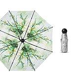 LYJZH Regenschirm, Winddichter, Stabiler Und Kompakter Großschirm, Schnell Trocken, 50% 8 Knochenkapsel Titansilber Sonnenschirm Farbe5 95cm