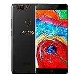 """ZTE Nubia Z17 Lite Octa-Core 4G Gratuit 5.5 """"Smartphone [1920 * 1080] / Snapdragon 653 1,9 GHz, 6 Go de RAM, 64 Go de ROM, 13m double caméra 13mM, Android 7.1 avec Dual-SIM - Noir [version Européen]"""