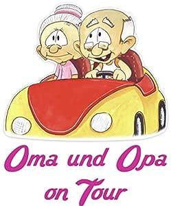 Bunte Babyaufkleber Kinderaufklerber Oma Und Opa Unterwegs Mit Wunschtext Baby