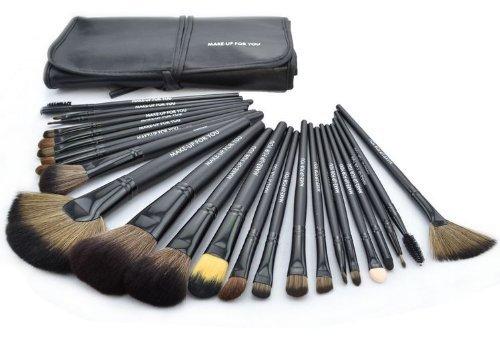 Davidsonne Professionnel Fond de Teint Poudre Blush cosmétiques Set de pinceaux à maquillage (24, noir)