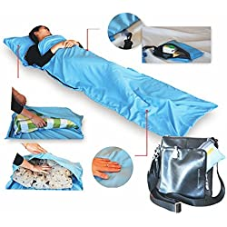StillCool Saco de dormir Individual Liner dormir bolsa de viaje de camping (azul cielo)