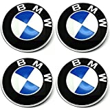 TEILE-24.EU Malinowski Radnabenkappen BMW Embleme Felgen Aufkleber Logo Nabendeckel Nabenkappe Radkappe 4 x 56 mm