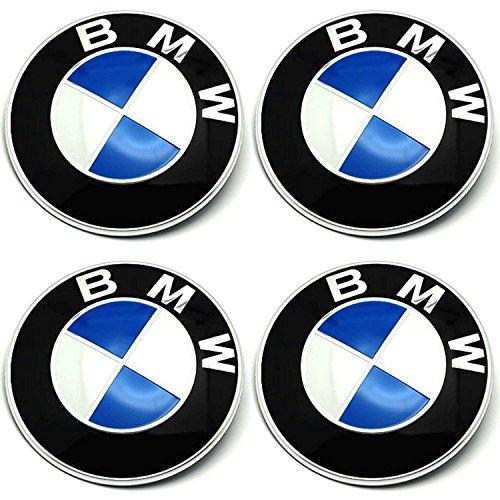 Radnabenkappen BMW Embleme Felgen Aufkleber Logo Nabendeckel Nabenkappe Radkappe 4 x 56 mm