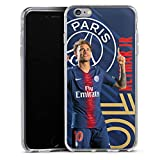 DeinDesign Coque en Silicone Compatible avec Apple iPhone 6s Plus Étui Silicone Coque Souple Paris Saint-Germain Produit sous Licence Officielle PSG Neymar Jr