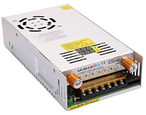 DC Universal Geregelt Schalttransformator Umschalten Transformator Energieversorgung 48V 10A für LED-Streifen-Licht-Computer-Projekt,Yeeco Einstellbar Stromspannung Regler LED-Stromwandler