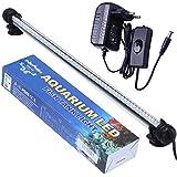 Tingkam® 48cm Blanc 57Led étanche IP68 Luminaires D'éclairage Aquarium Tube Fish Tank Lumière Submersible