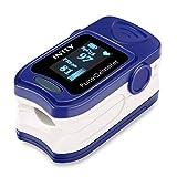 INTEY Doigt Oxymètre de Pouls SpO2 (saturation en oxygène dans le sang), et moniteur de fréquence cardiaque pour enfants et adultes avec 2 Piles AAA
