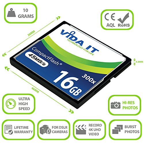 NEW 16GB HIGH SPEED 200x CF Compact Flash MEMORY CARD FOR