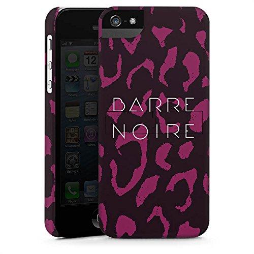Apple iPhone 4 Housse Étui Silicone Coque Protection BARRE NOIRE Fashion Léopard CasStandup blanc