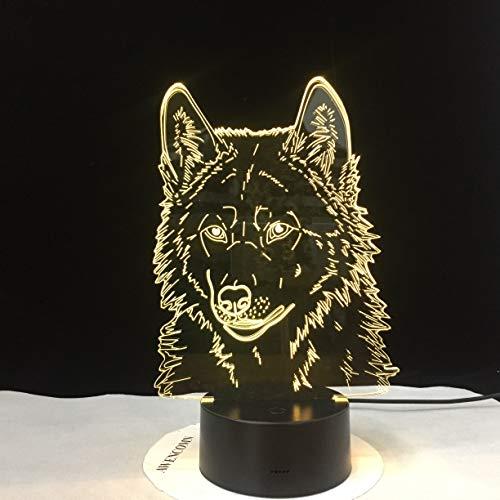 Farblicht visuelle Nachtlicht, Kinder Wolf Touch Watch Baby Schlaf Nachtlicht
