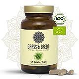 BIO Weizengras Gerstengras Lemongras Kapseln I Vegan I 120 Stück I Grass and Green - Superfood I Grüne Energie Für Deinen Körper