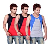 White Moon Gym Vest - Pack of 3 (Grey_Re...