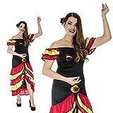 Monster Spanierin Flamenco Tango Andalusien Tänzerin Kostüm Damen
