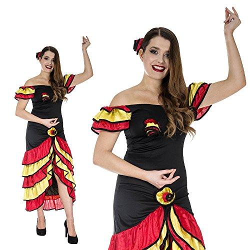 Spanierin Flamenco Tango Andalusien Tänzerin Kostüm - Aller Aus Kostüme Welt