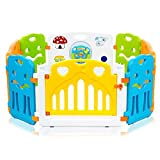 Baby Vivo Box per Bambini Sicurezza Barriera Pieghevole Cancelletto Recinto con Porta Plastica Estensibile - COLORS Parte principale