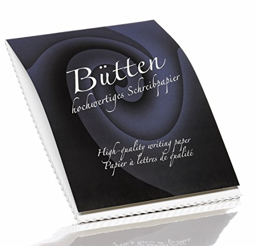 Rössler Papier - Bütten - Briefblock blanko (50 Blatt, A4) weiß