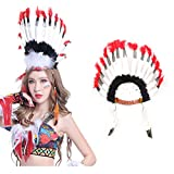 TOYMYTOY Indio Feather Headband Carnival Headpiece Disfraz Headwear para mujeres Chica Fiesta